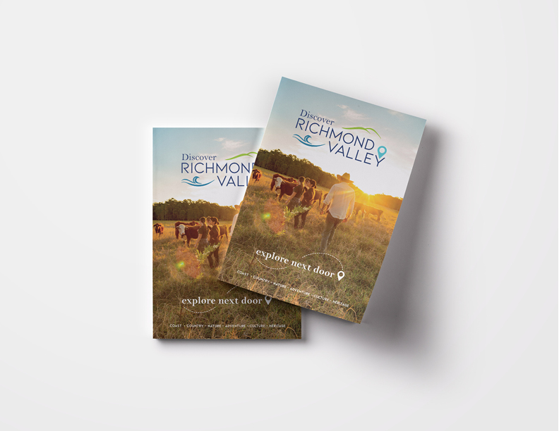 Discover Richmond Valley Branding by Wild Honey Creative - Visitors Guide Publication Design